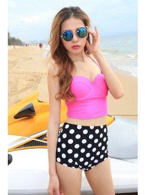 26d1ca94a03 Petite Vintage High Waist Swimsuit For Women | Swimsuits | Fashion ...