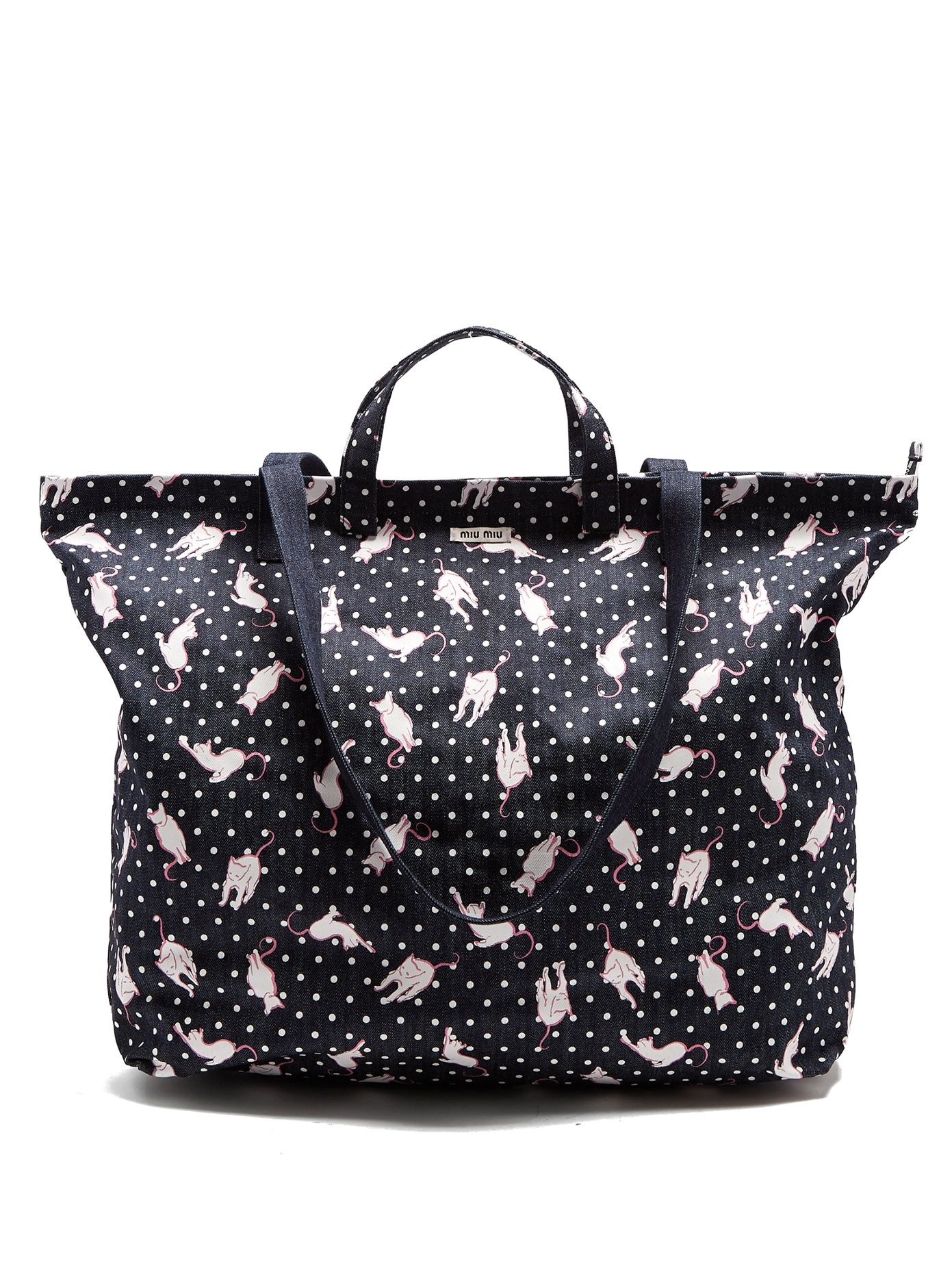 cc516da7a385 Cat-print denim tote bag