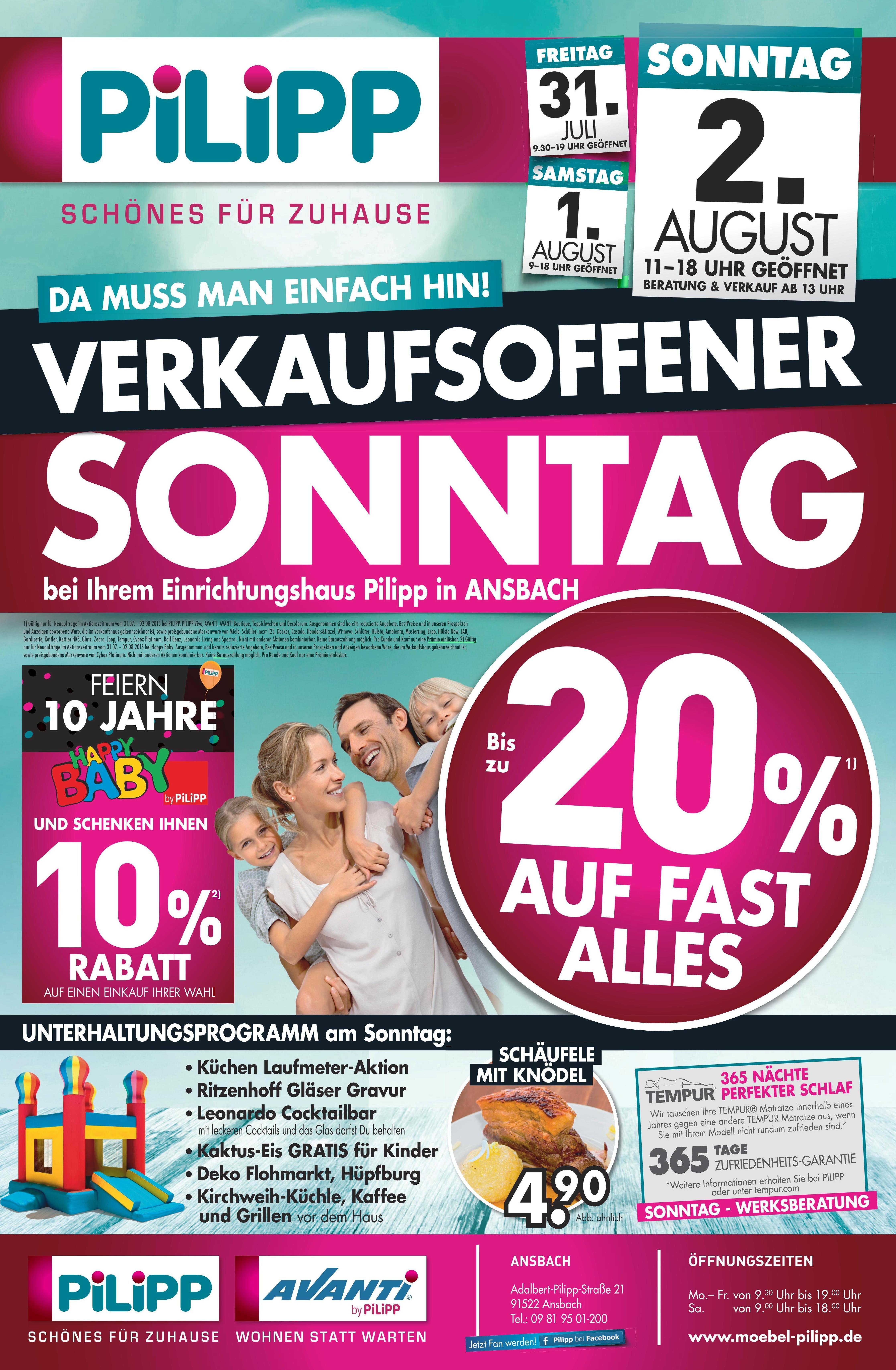 Verkaufsoffener Sonntag Bei Ihrem Einrichtungshaus Pilipp In Ansbach Verkaufsoffener Sonntag Gewinnspiel Feiern