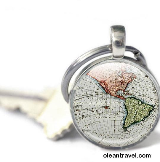 Map keyring key chain antique maps world keyring photo keyring map keyring key chain antique maps world keyring photo keyring ancient maps globe keyring blue keychain travel gift gumiabroncs Image collections