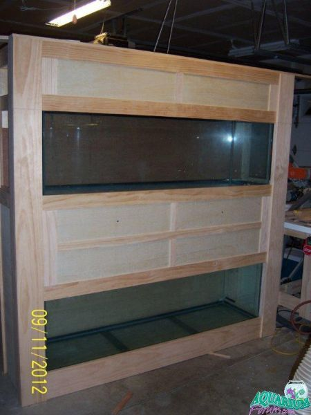 Dual 125 Gallon Aquarium Stand Build Lots Of Pictures 125 Gallon Aquarium Aquarium Stand Fish Tank Stand