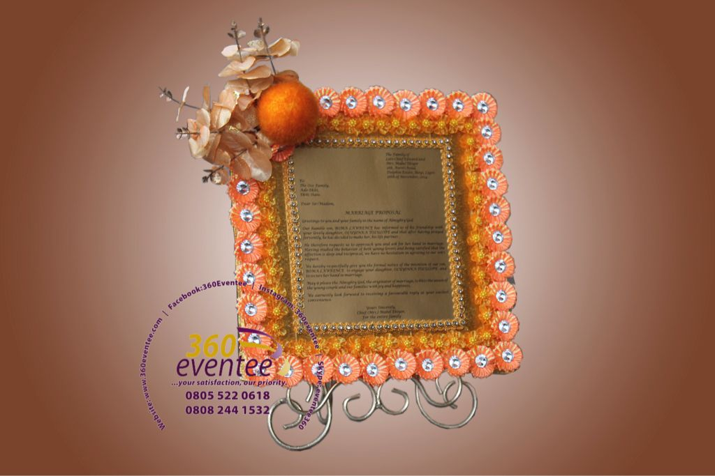Customised Engagement Letter  Eru Iyawo Nigeria Yoruba