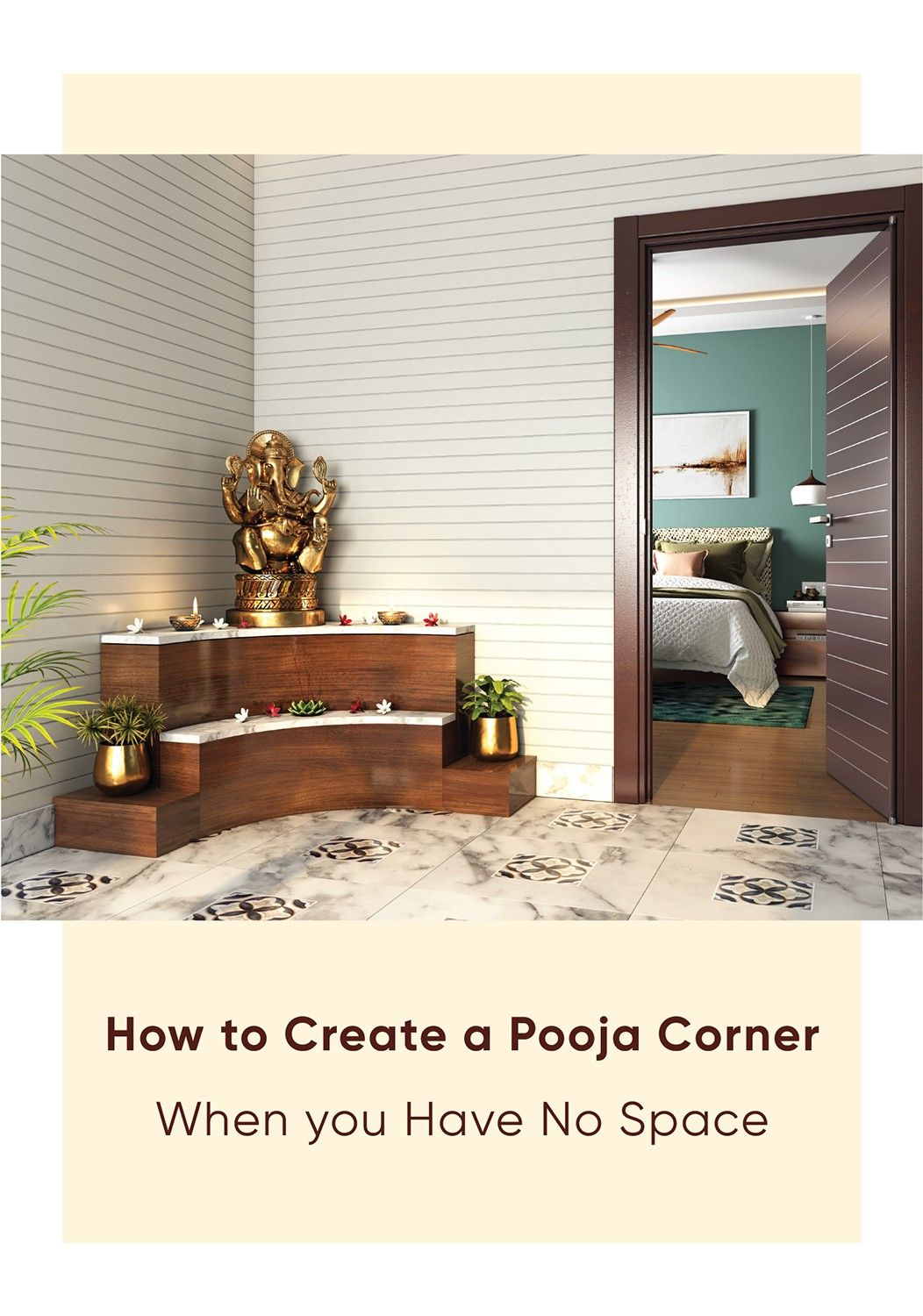 Pooja Room Designs For Flats: No Dedicated Pooja Room? Here Are Expert Solutions In 2020