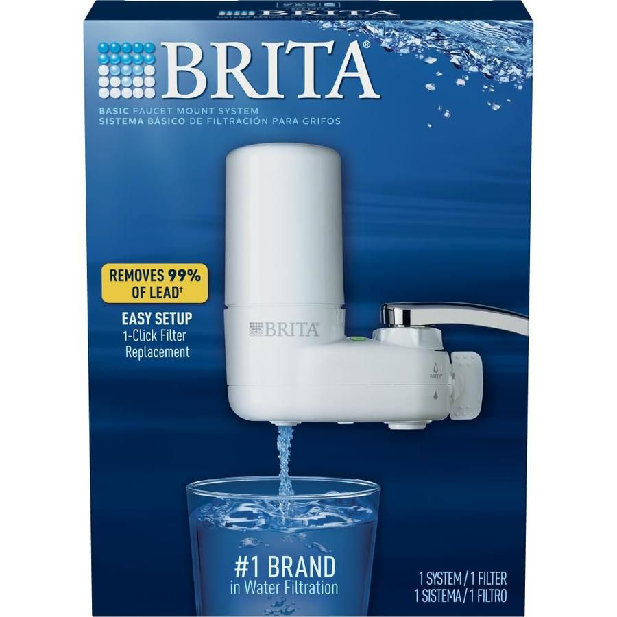 Brita Tap Water Filter Water Filtration System Replacement Filters For Faucets Reduces Lead Bpa Free White 1 Ct Brita Tap Water Filtration System Water Filter