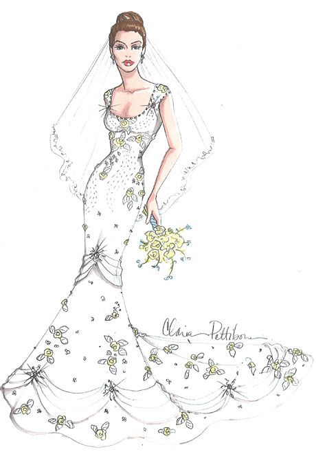 Designer Fantasy Sketches: Kim Kardashian\'s Wedding Gown | Sketches ...