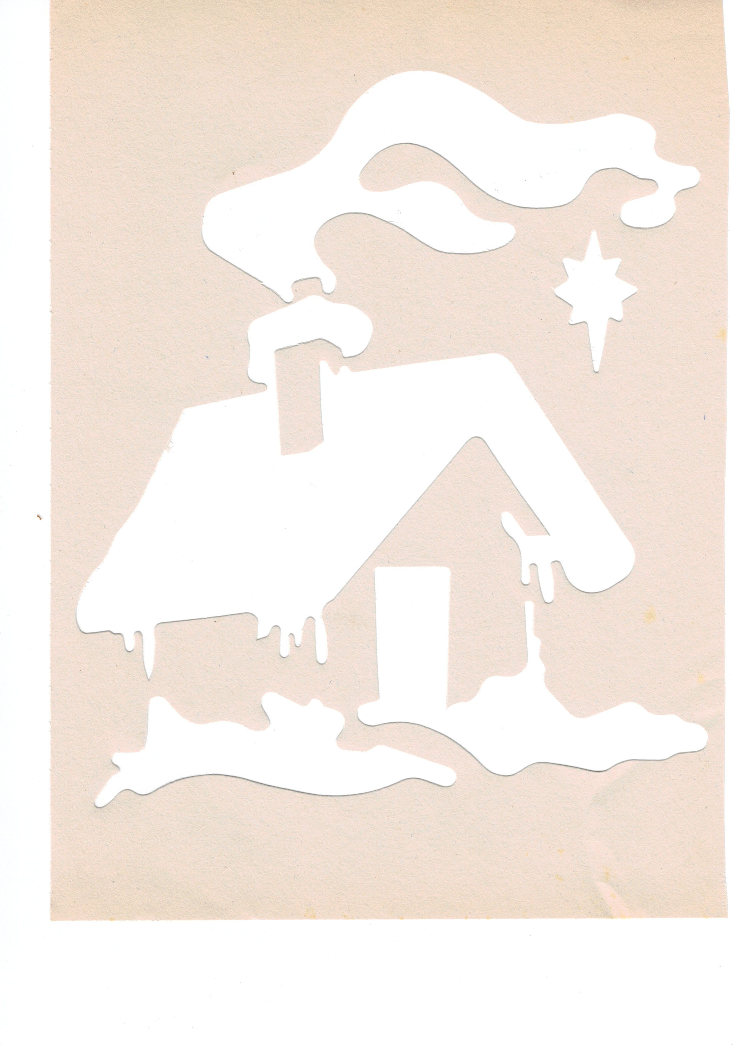 House  Useable As Stencil Or Spray Template