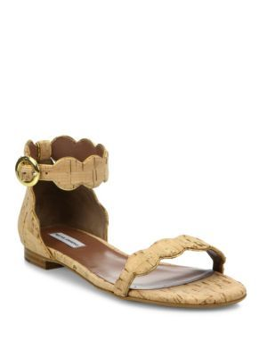 TABITHA SIMMONS Scalloped Cork Sandals. #tabithasimmons #shoes #sandals