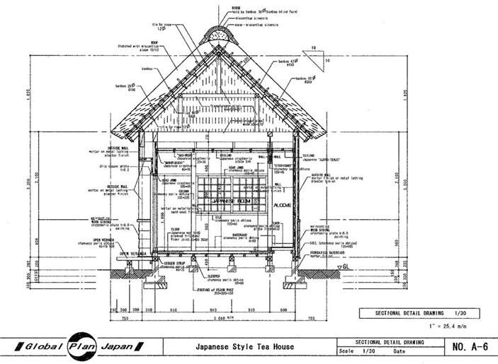 Good 25 Japanese House Plan On Japanese House Plan Tea House Drawing Building Detail Japanese Tea House Tea House Traditional Japanese House