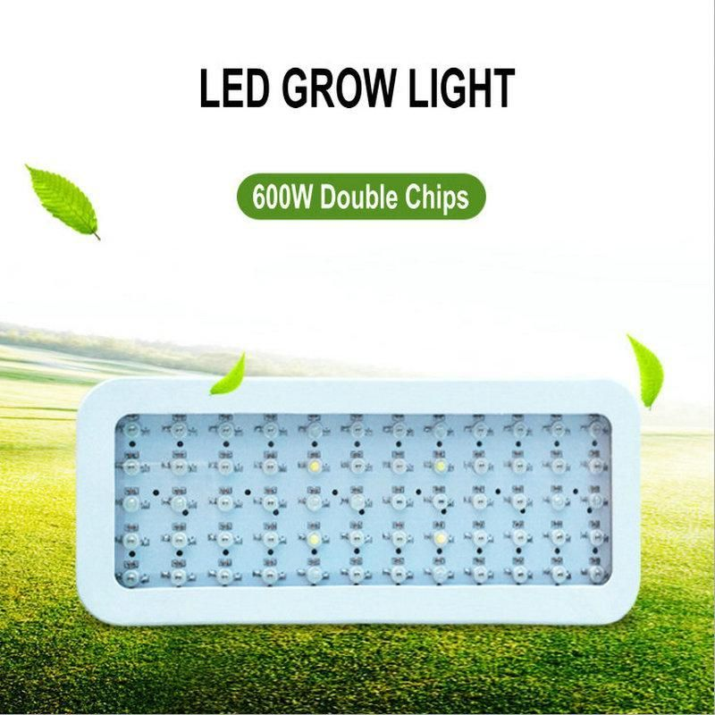 600W Full Spectrum Led Grow Panel Lamp 85-265V Led Plant Grow Light Best for Hydroponic Systems Flowering Plant Bloom fast ship