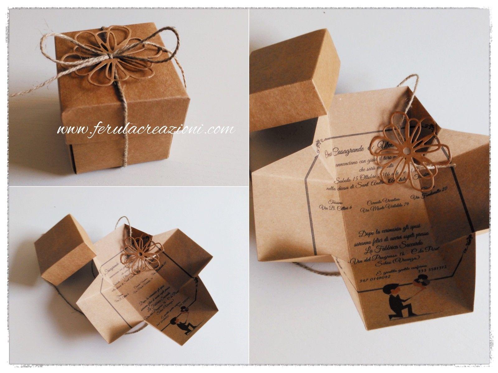 Ebay Partecipazioni Matrimonio.Partecipazioni Matrimonio 3d Exploding Box Vintage Inviti