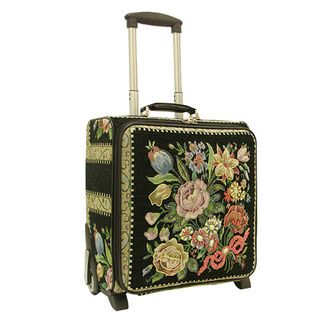 Mellow World Hand Beaded Floral Rolling Carry-on Tote Bag by ...