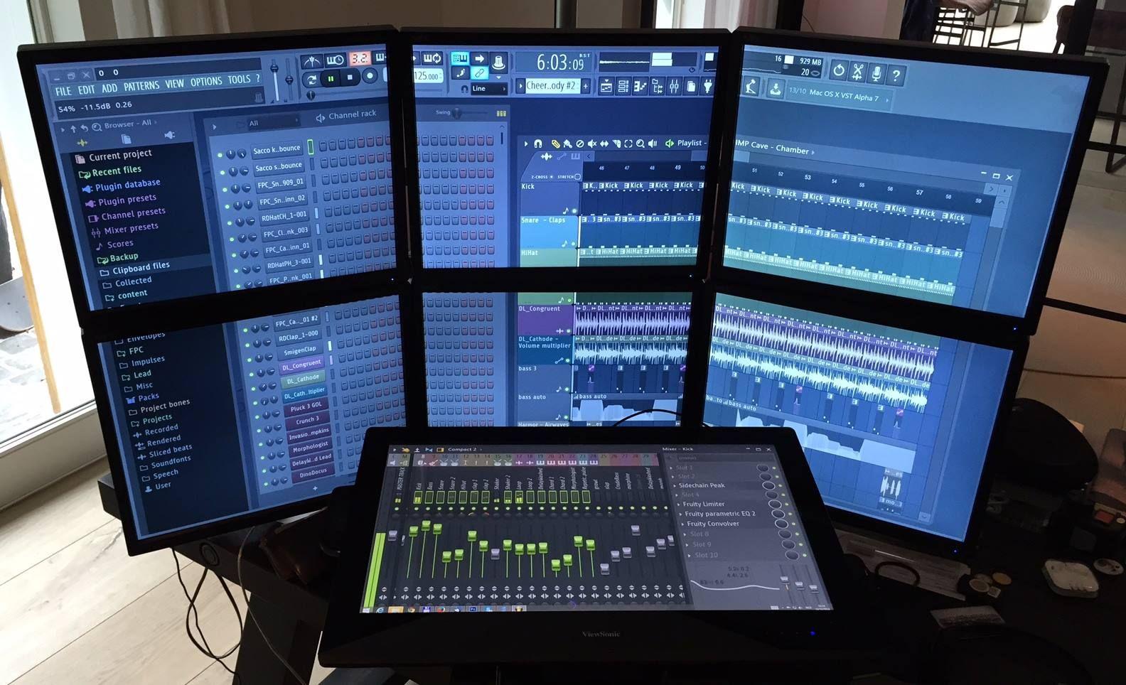 Fl Studioを無駄にマルチ モニタで使う Studio