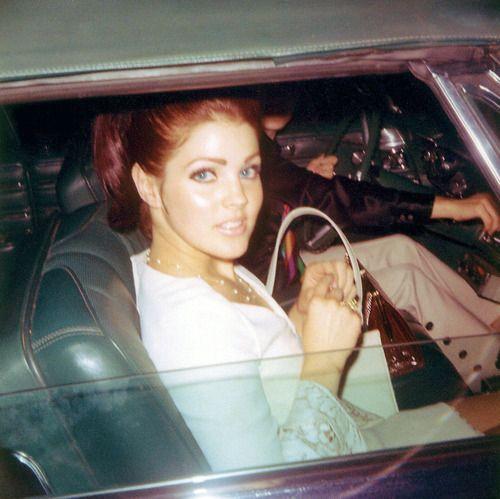 priscilla presley young car