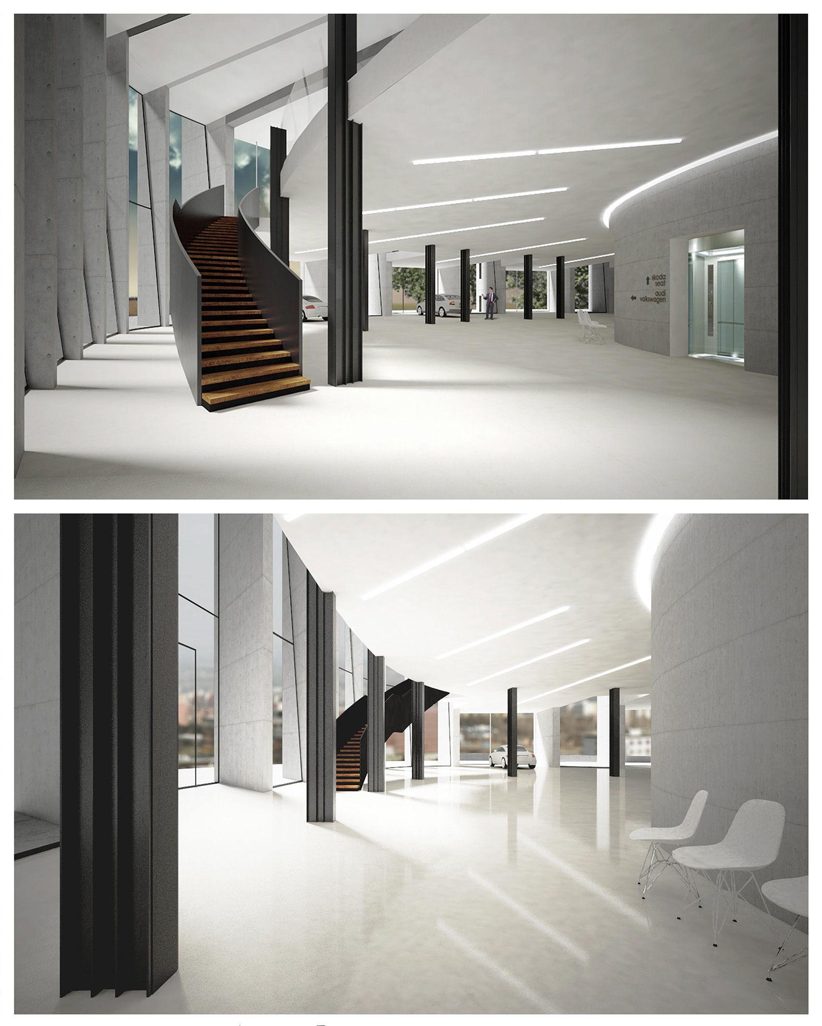 car showroom by david korsa school work showroom interior design rh pinterest com