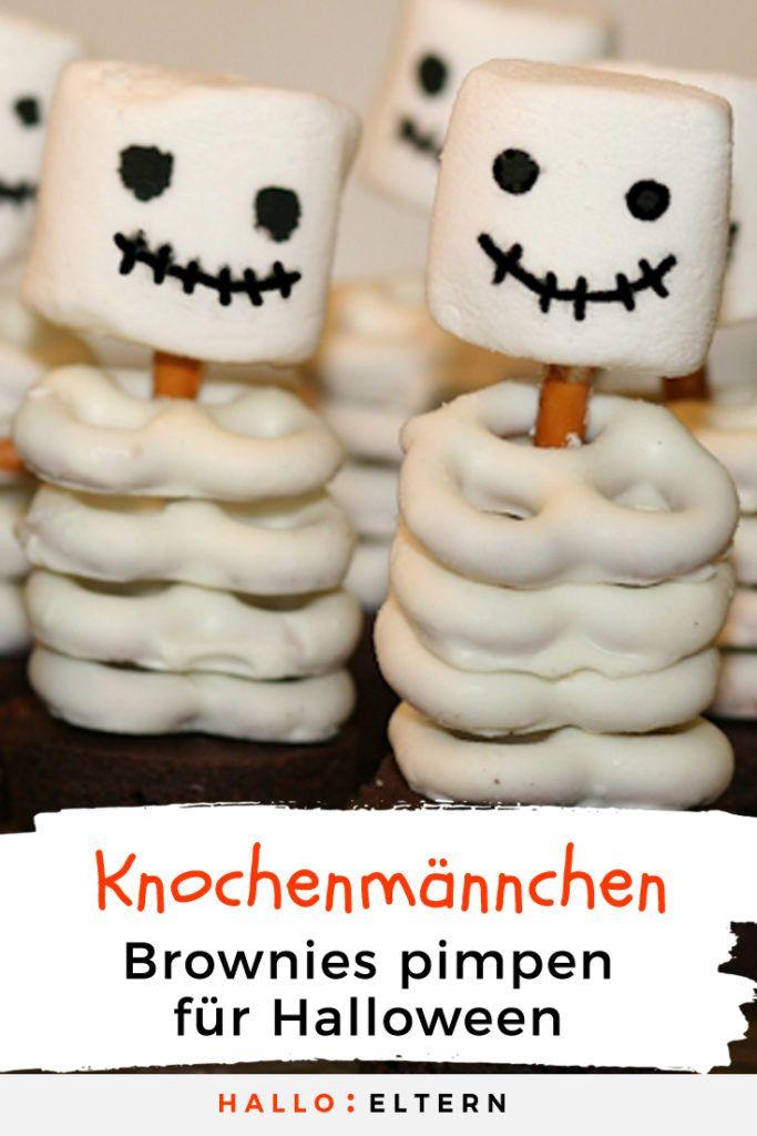 Leckerer Skelett-Snack für die Halloweenparty