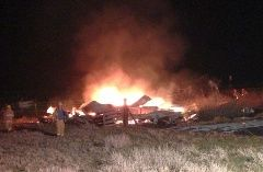 Fire destroys Spangle barn...