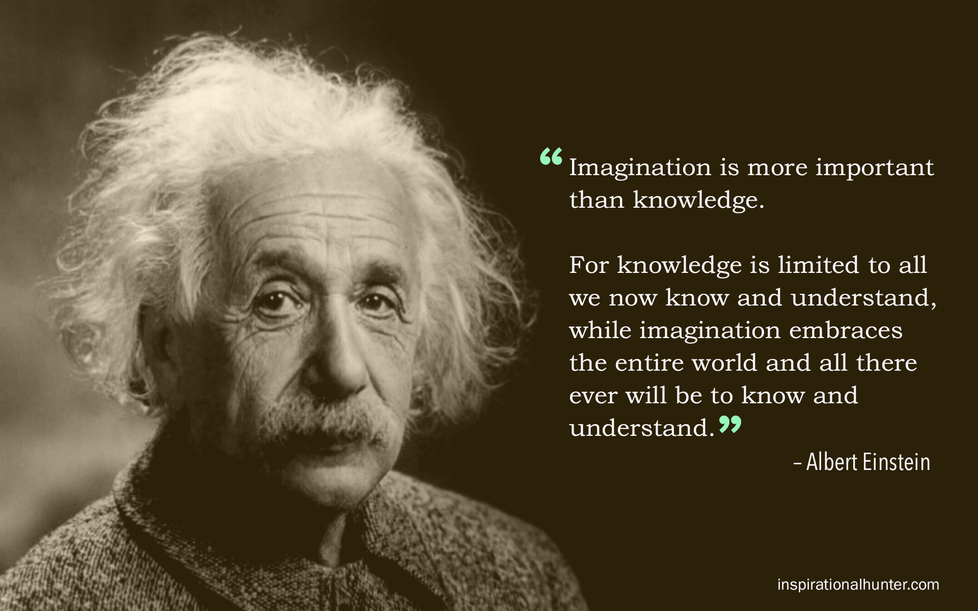 Albert Einstein Quote Imagination Is More Important Than Knowledge Imagine Timpfest