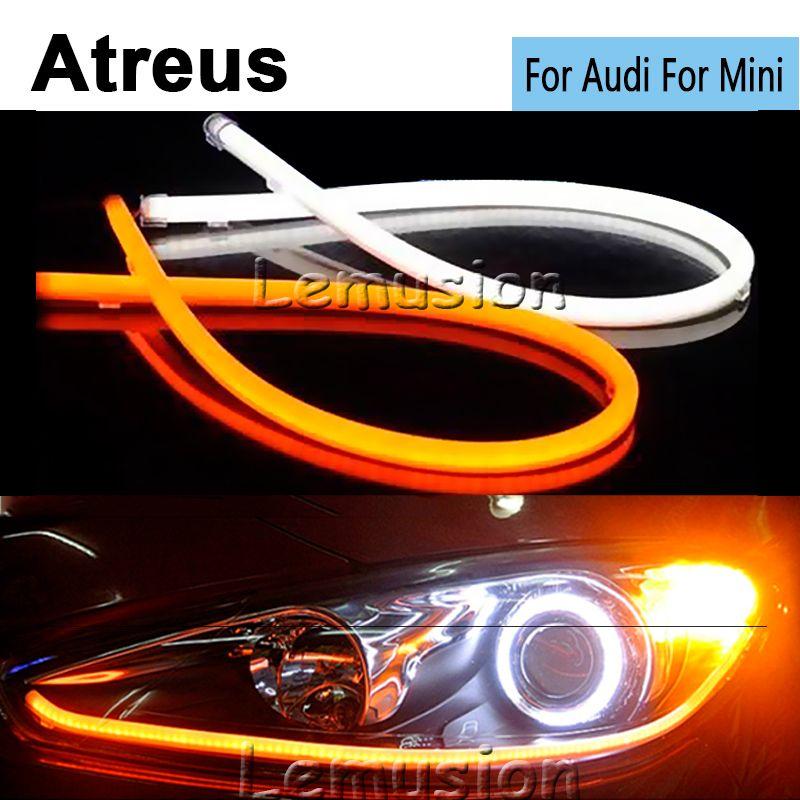 Atreus Car Styling Flexible 60cm Car Led Drl Daytime Running Light For Audi A4 B6 B8 B7 A3 A6 C5 C6 Q5 Mini Cooper R56 50 53 F56 Car Lights Audi Lights