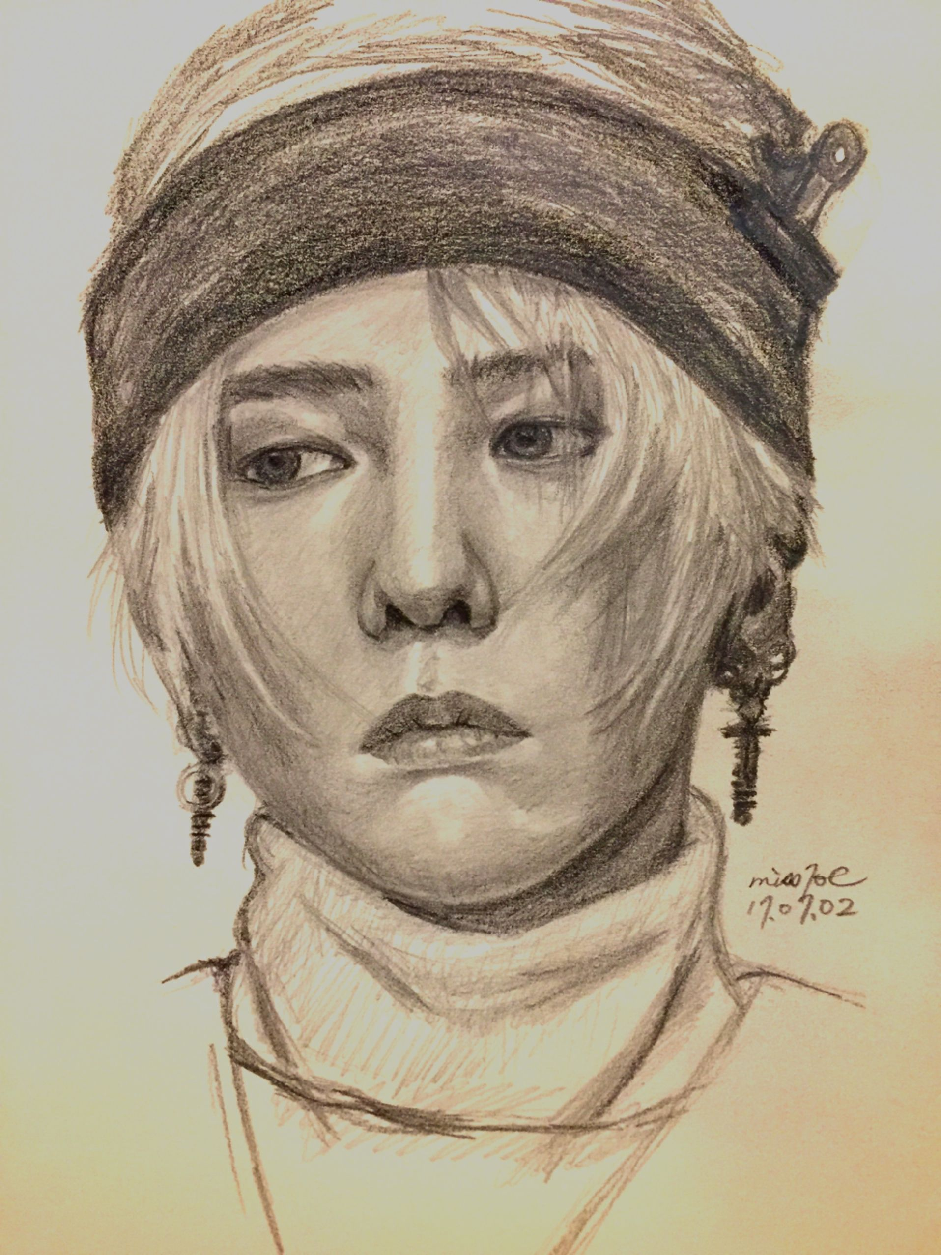 Gdragon Portrait Sketching Pencildrawing Amateurart Kpop Drawings Dragon Sketch Bts Drawings