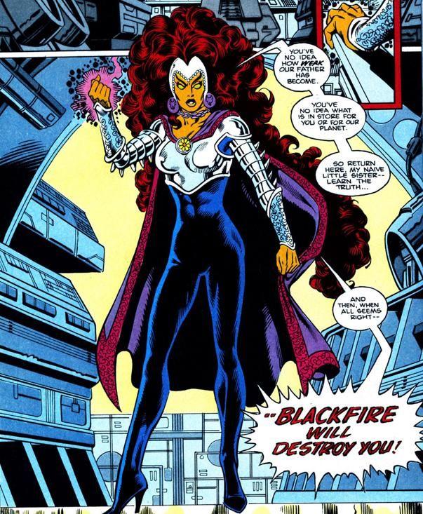 starfire black titans comic Teen fire