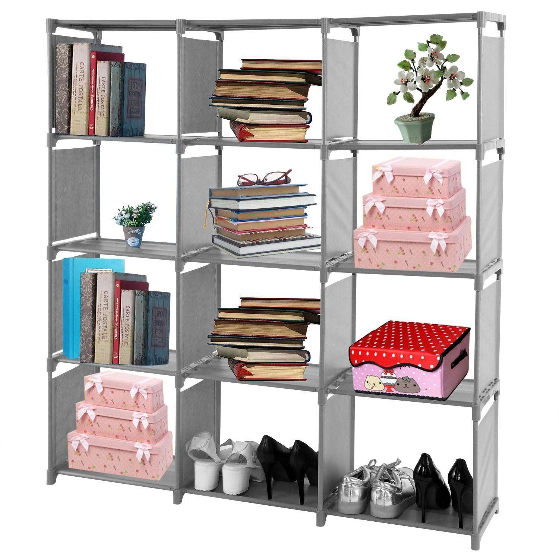 Book Shelf Organizer Rack Unit Storage 5 12 Cube Freestanding Fabric