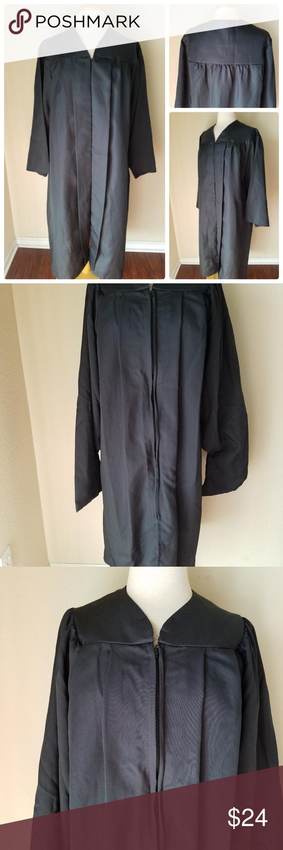 Oak Hall Graduation Gown Black Unisex 5 52 My Posh Closet