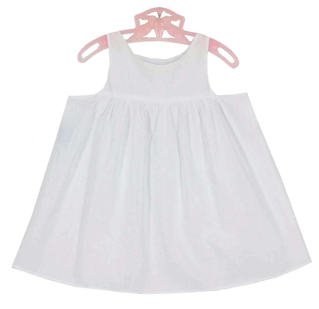 Remember Nguyen Girls White Smocked Christening Gown With Slip Cotton