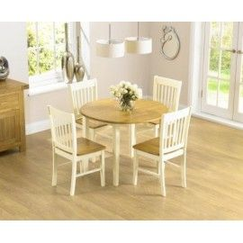 Shop The Genoa Drop Leaf Extending Dining Table Set With Chairs At Oak Furniture Superstore Quick Delivery APR Available