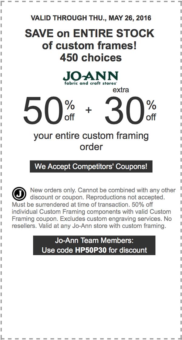 Joann senior coupon