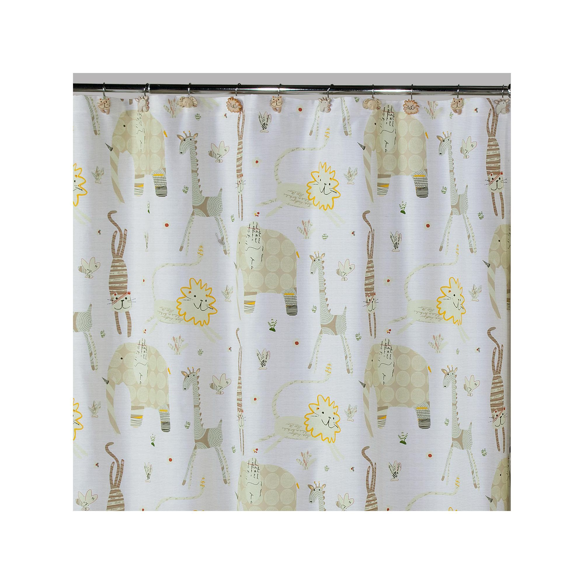 Creative Bath Animal Crackers Fabric Shower Curtain, Multicolor ...