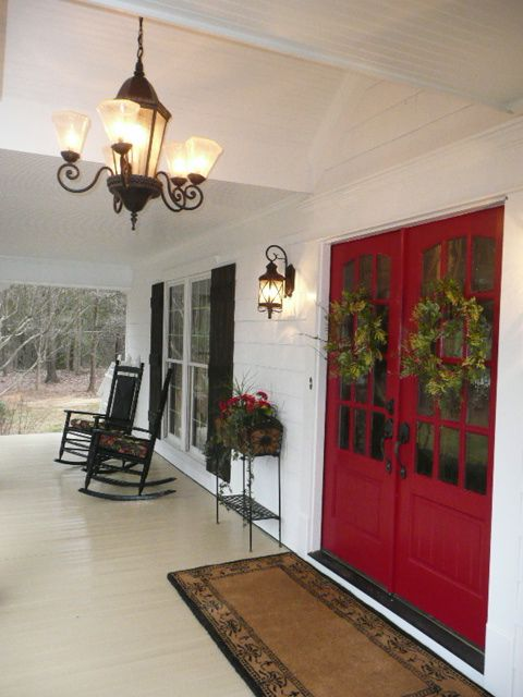 White French Doors Exterior Entrance