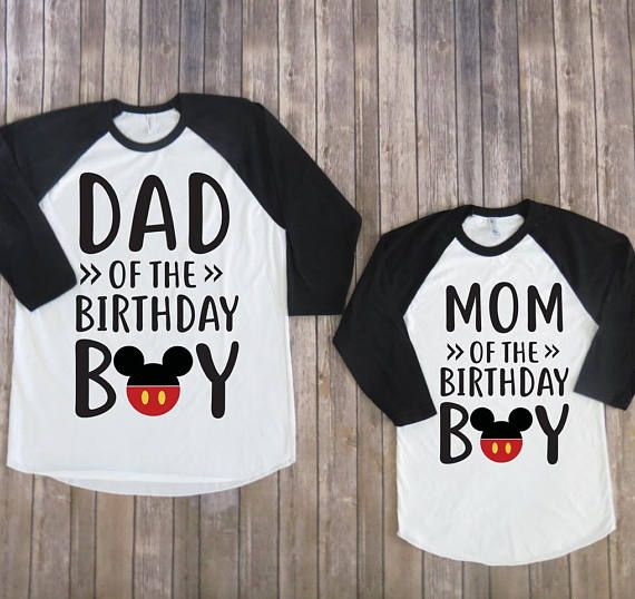 Mom And Dad Of Birthday Boy Mickey Mouse Version Shirt Disneyland Disneyworld Disney