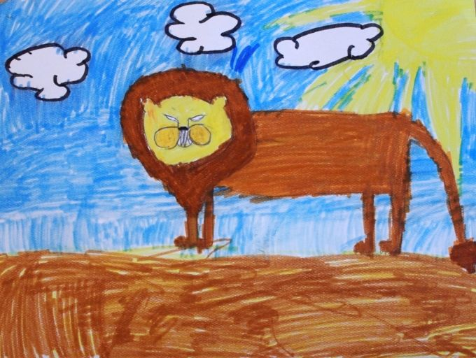 Drawing Using Lines : Drawing lessons for kids with the monart method how to draw lions