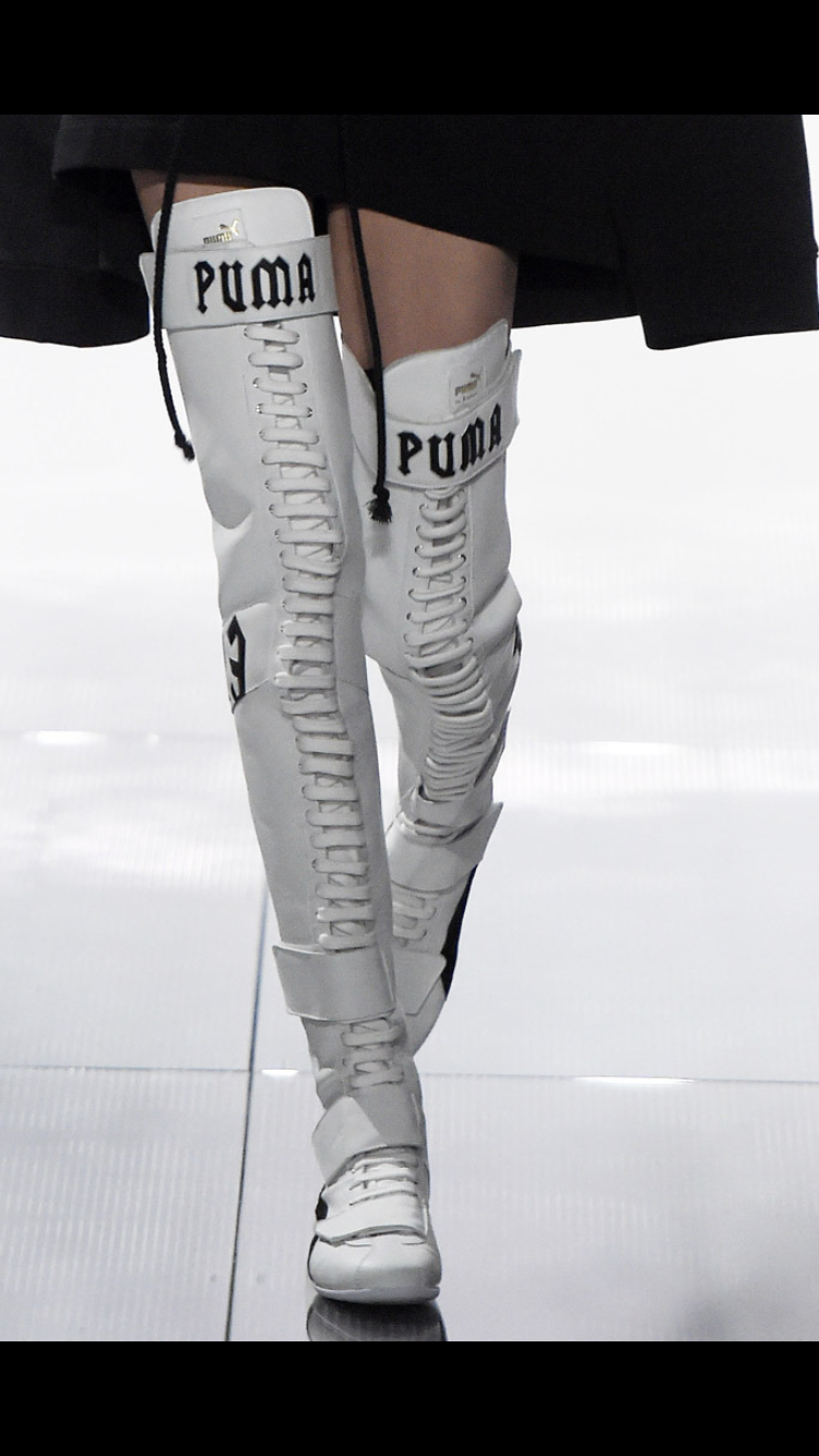 Puma outfit, Boots, Fashionista shoes