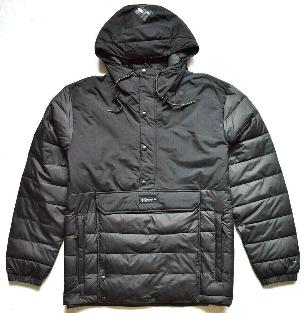 NWT COLUMBIA MENS CRESTED BUTTE INSULATED OMNI HEAT JACKET BLACK