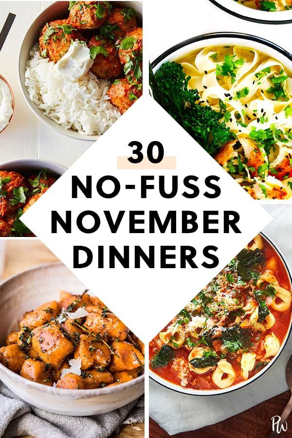 30 November Dinner Ideas That Will Cure Your Cooking Fatigue
