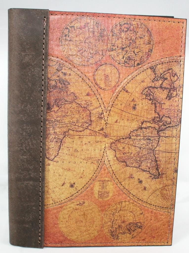 Amazon leather travel journal notebook diary logbook with leather travel journal notebook diary logbook with a printed old world map on front cover 5 x 7 with lined paperfull grain saddlery leather gumiabroncs Gallery