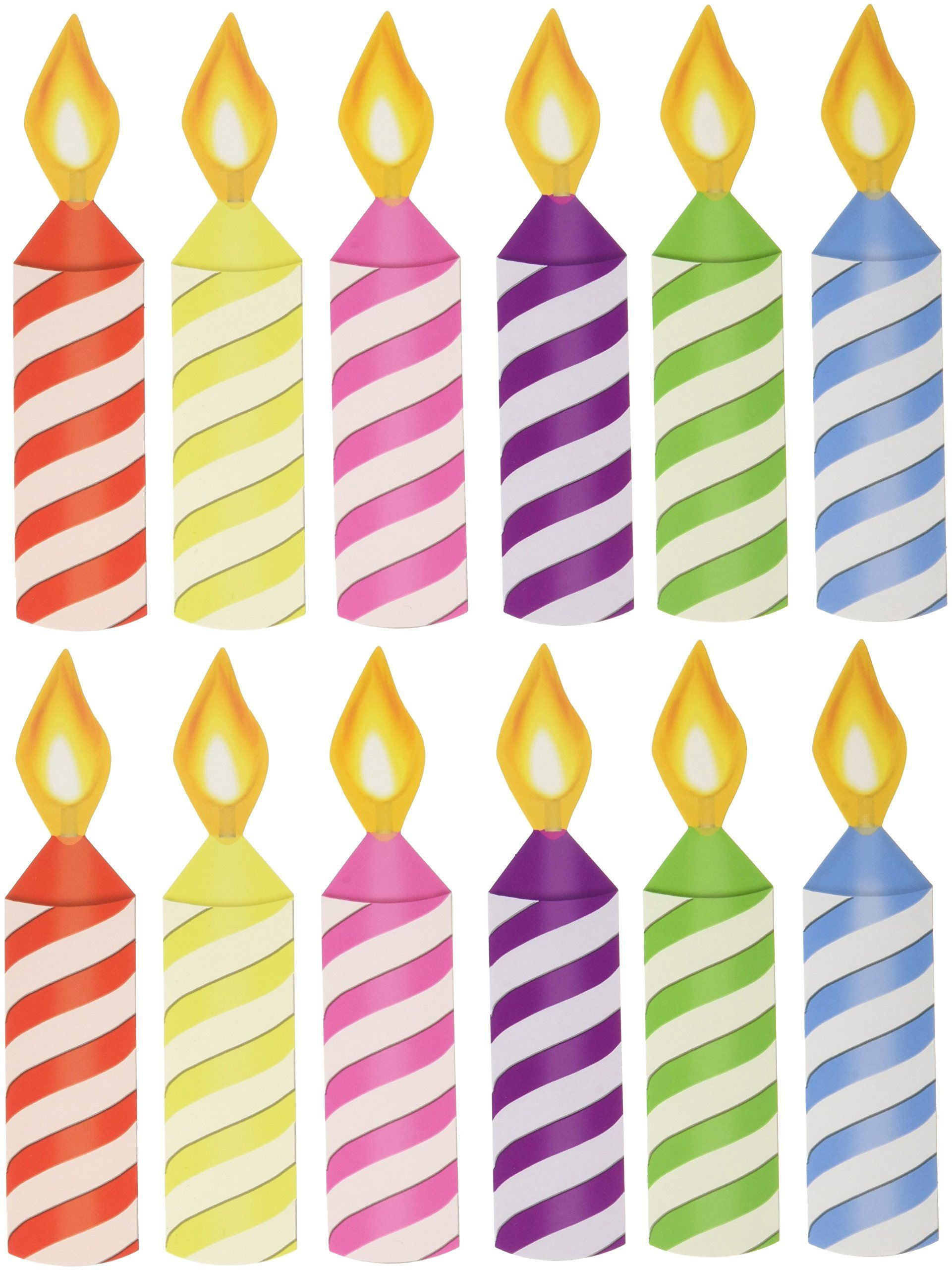 Wilton 2811-6307 12 Count Rainbow Ombre Birthday Candle
