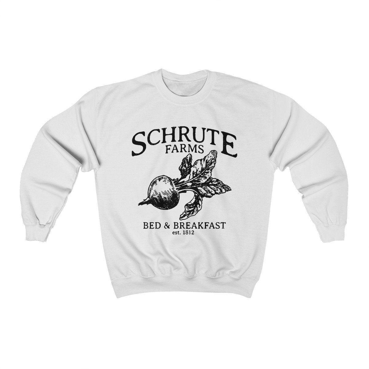 Schrute Farms The Office Unisex Heavy Blend Crewneck Sweatshirt By Graphicmugsetc On Etsy Sweatshirts Women Sweatshirts Houndstooth Leggings [ 1200 x 1200 Pixel ]