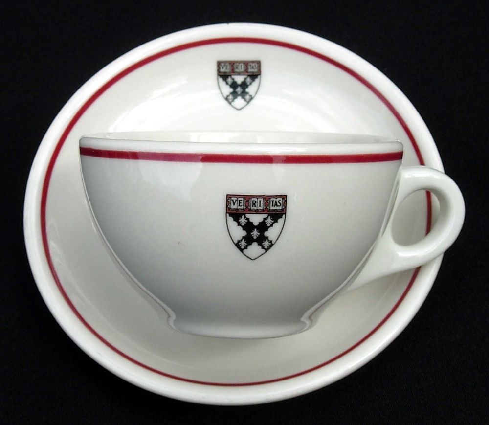 Harvard Cup And Saucer 1950s Syracuse China Restaurant Ware