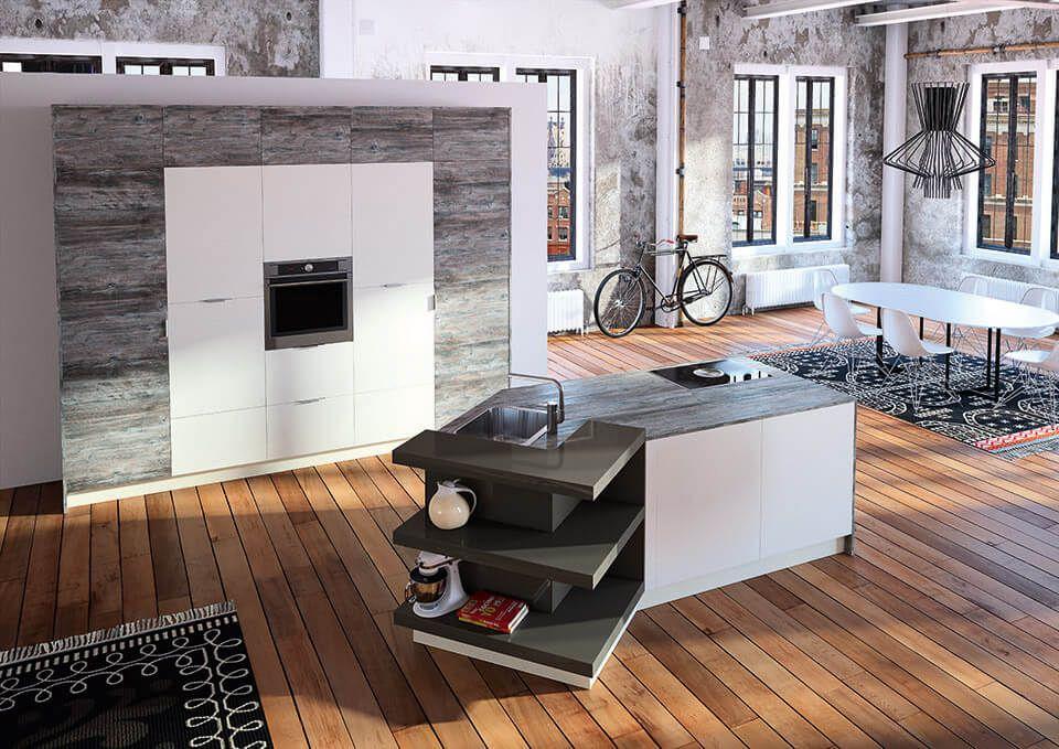 k che mit holzboden 9 bilder ideen von k chen mit. Black Bedroom Furniture Sets. Home Design Ideas
