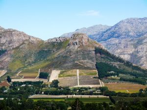 The Verdant Valley of Franschhoek in South Africa