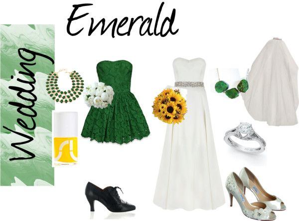 """Emerald Wedding"" by layneb ❤ liked on Polyvore"