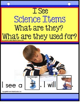 Build A Sentence with Pictures Interactive -SCIENCE ITEMS  Forming sentences for our young learners or those with autism, can be challenging. Using real-life pictures for easy recognition of elementary age science objects, students love learning to read and form sentences. Practice naming science items and their purpose with easy sight word practice as an added bonus!