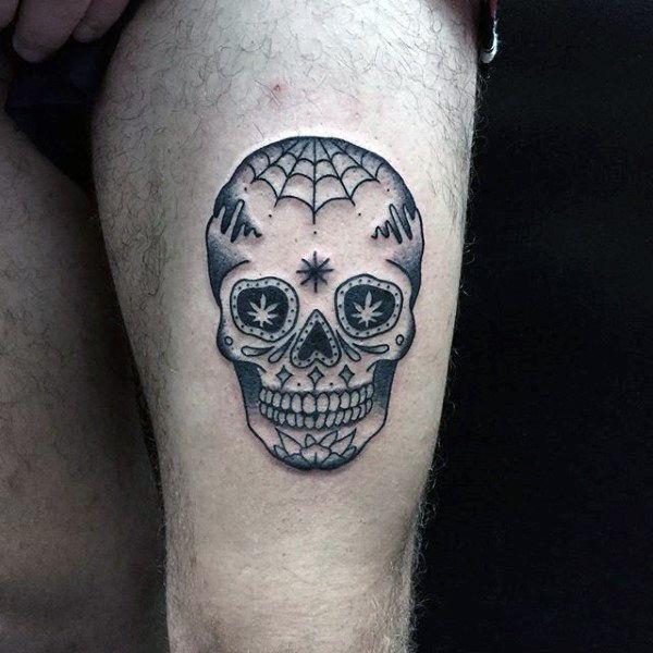 100 Sugar Skull Tattoo Designs For Men Cool Calavera Ink Ideas Sugar Skull Tattoos Tattoos For Guys Skull Tattoo