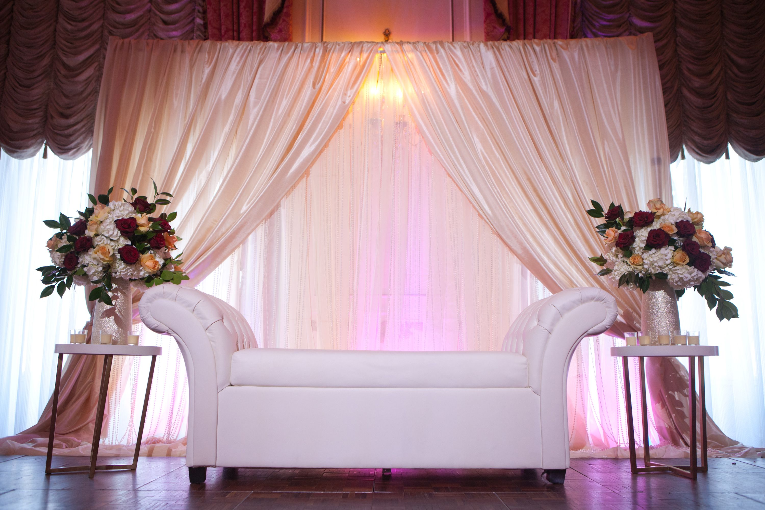 Taj Boston Muslim Wedding Reception Backdrop, Ivory Wedding ...