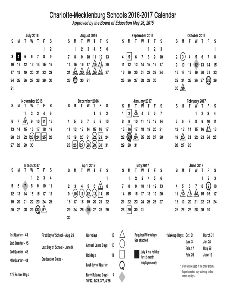 2016 2017 School Calendar Sle Free News To Go Pinterest School
