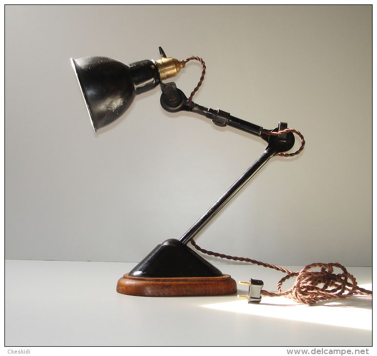 Ancienne Lampe Ajustable Gras 207 Rare Industrial French Lamp Le