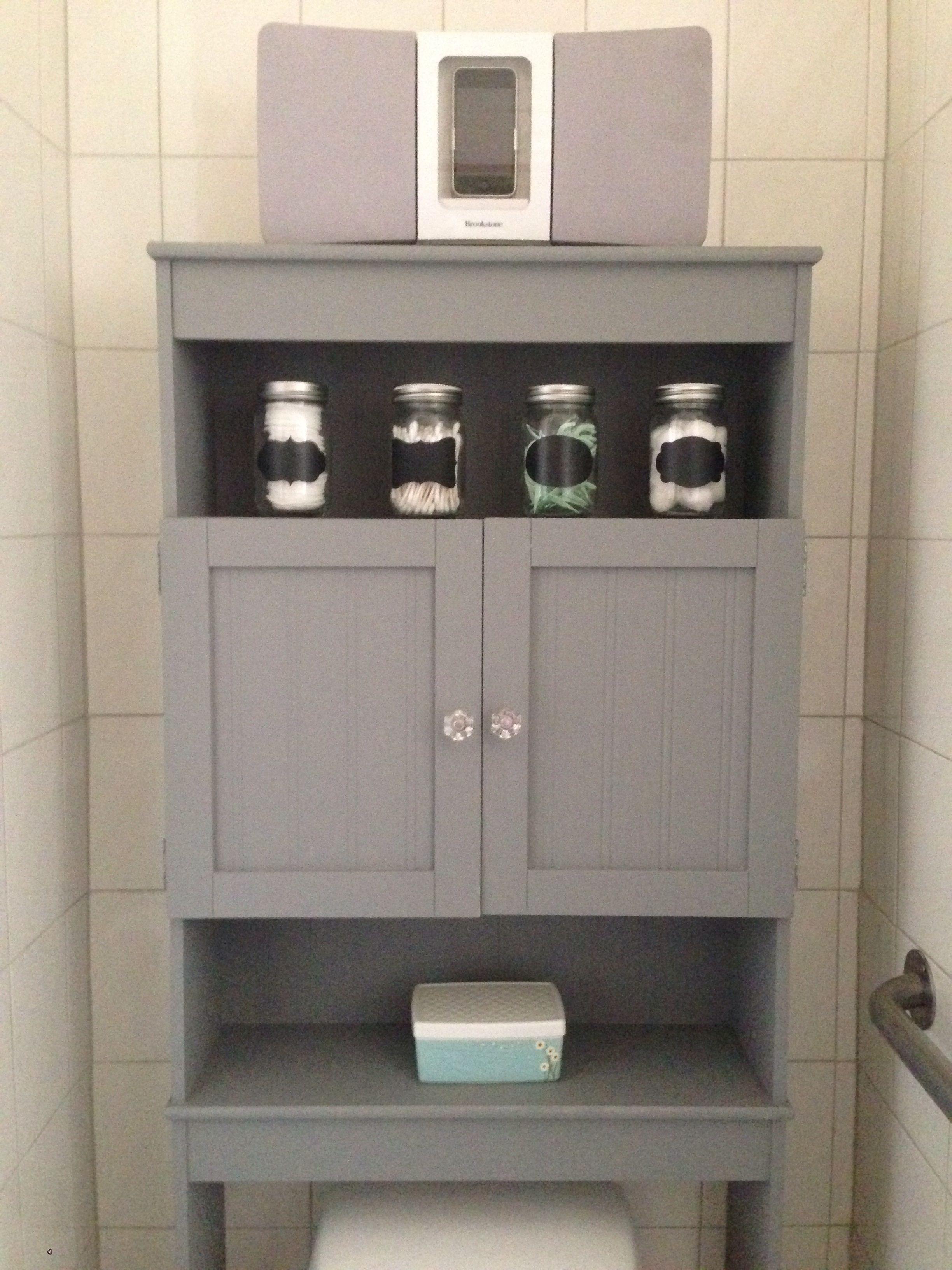 Redid Over-toilet Storage Left