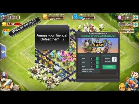 No Surveys Castle Clash Gold Mana Gems Hack V 3 0 Free Castle Clash Hack Castle Clash Castle